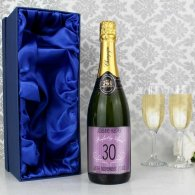 Personalised Age Champagne Purple with Gift Box