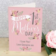 Personalised Floral Bouquet 1st Mother's Day Card