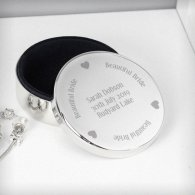 Personalised Beautiful Bride Round Trinket Box