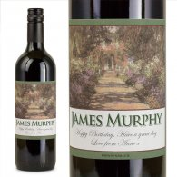 Giverny Garden Personalised Gift Labelled Wine