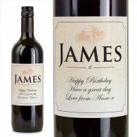 Classic Car Personalised Birthday Gift Labelled Wine