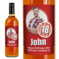 18 Cert Personalised Birthday Gift Labelled Wine