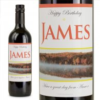 The Lake Personalised Gift Labelled Wine