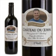 60th Birthday Present Personalised Gift Wine