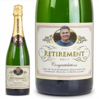 Retirement Gift Personalised Champagne