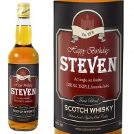 Personalised Happy Birthday Whisky