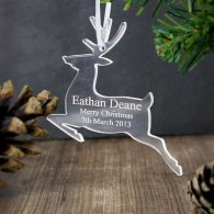 Personalised Acrylic Reindeer Decoration