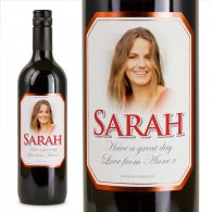 Red Bevel Personalised Gift Labelled Wine