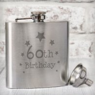 60th Birthday Hip Flask