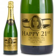 21st Birthday Gold Label Personalised Birthday Champagne