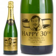 30th Birthday Gold Label Personalised Birthday Champagne