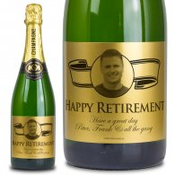 Retirement Gift Gold Personalised Champagne Gift