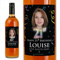 21st Birthday Personalised Birthday Gift Labelled Wine