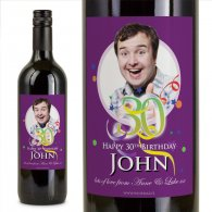 30th Birthday Personalised Birthday Gift Labelled Wine