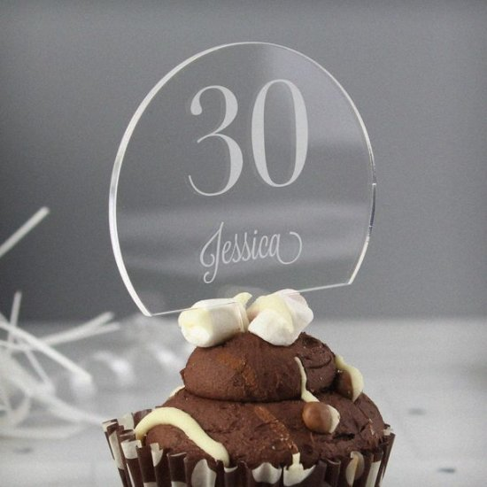 Personalised Traditional Big Age Cake Topper