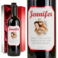 Romantic Wine Gift Valentines & Gift Box