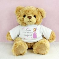 Personalised Fabulous Bridesmaid Message Bear