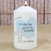 Personalised Godfather Candle
