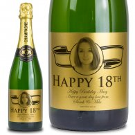 18th Birthday Gold Label Personalised Birthday Champagne