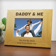 Personalised Daddy & Me 6x4 Wooden Photo Frame