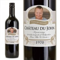 50th Birthday Present Personalised Gift Wine
