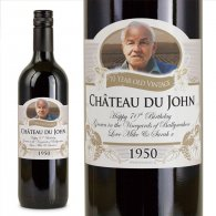 70th Birthday Present Personalised Gift Wine