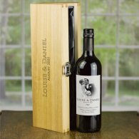 Personalised Wedding Wine & Engraved Luxury Wooden Gift