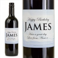 Waves Personalised Gift Labelled Wine