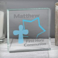 Personalised Star Cross Medium Crystal Token