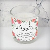 Personalised Floral Sentimental Scented Jar Candle