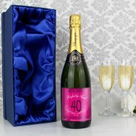 Personalised Age Champagne Pink with gift box