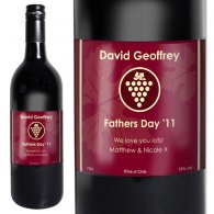 Personalised Red Wine Grape Label with Gift Box