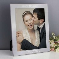Personalised Always & Forever Silver 10x8 Photo Frame