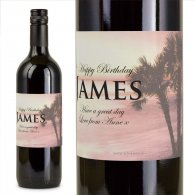 Coral Personalised Gift Labelled Wine