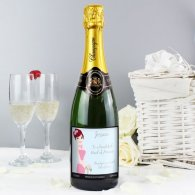 Personalised Fabulous Wedding For Bridesmaid Champagne