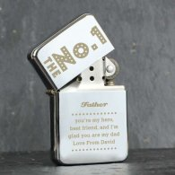 Personalised 'The No.1' Silver Lighter
