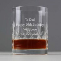 Birthday Present Personalised Crystal Whiskey Tumbler