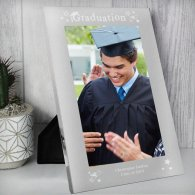 Personalised Mirrored Graduation Glass Photo Frame 5x7