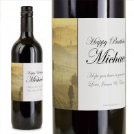 Tuscan Hills Personalised Gift Labelled Wine
