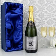 Personalised Age Champagne Grey with Gift Box