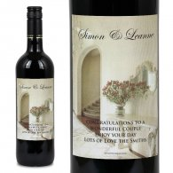 Albaster Hall Personalised Wedding Labelled Wine