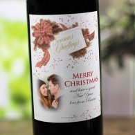 Bow and Pine Personalised Christmas Labelled Wine