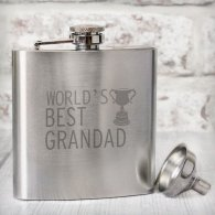Worlds Best Grandad Hip Flask
