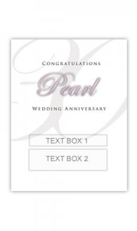 Pearl Anniversary Personalised Gift Wine