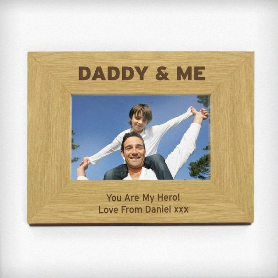 Personalised Daddy Me 6x4 Wooden Photo Frame