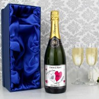 Personalised A Perfect Love Ruby Champagne with Gift Box