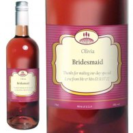 Personalised Rose Wine Classic Label with Gift Box