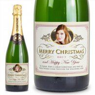 Personalised Champagne Christmas