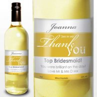 Personalised White Wine Thank You Label