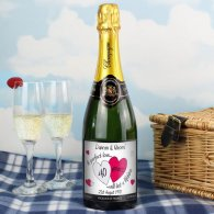 Personalised A Perfect Love Ruby Champagne